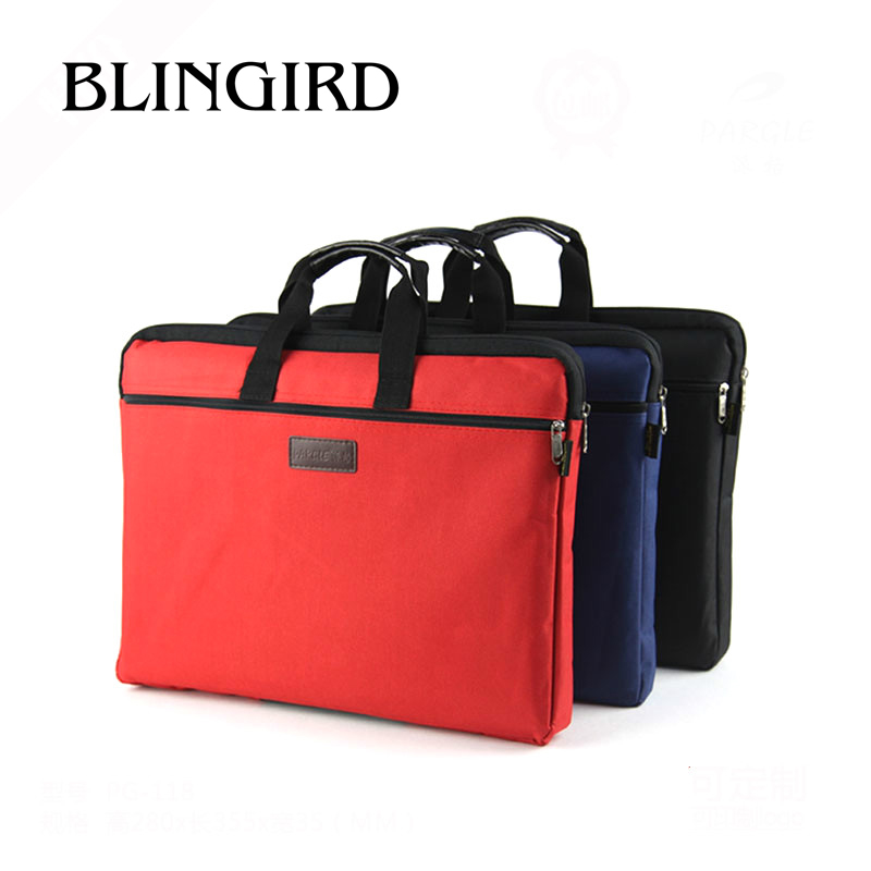 1PC A4 Zipper Oxford Cloth Package School Large Capacity Bag Male And Female Briefcase Computer Holder Office Business Briefcase