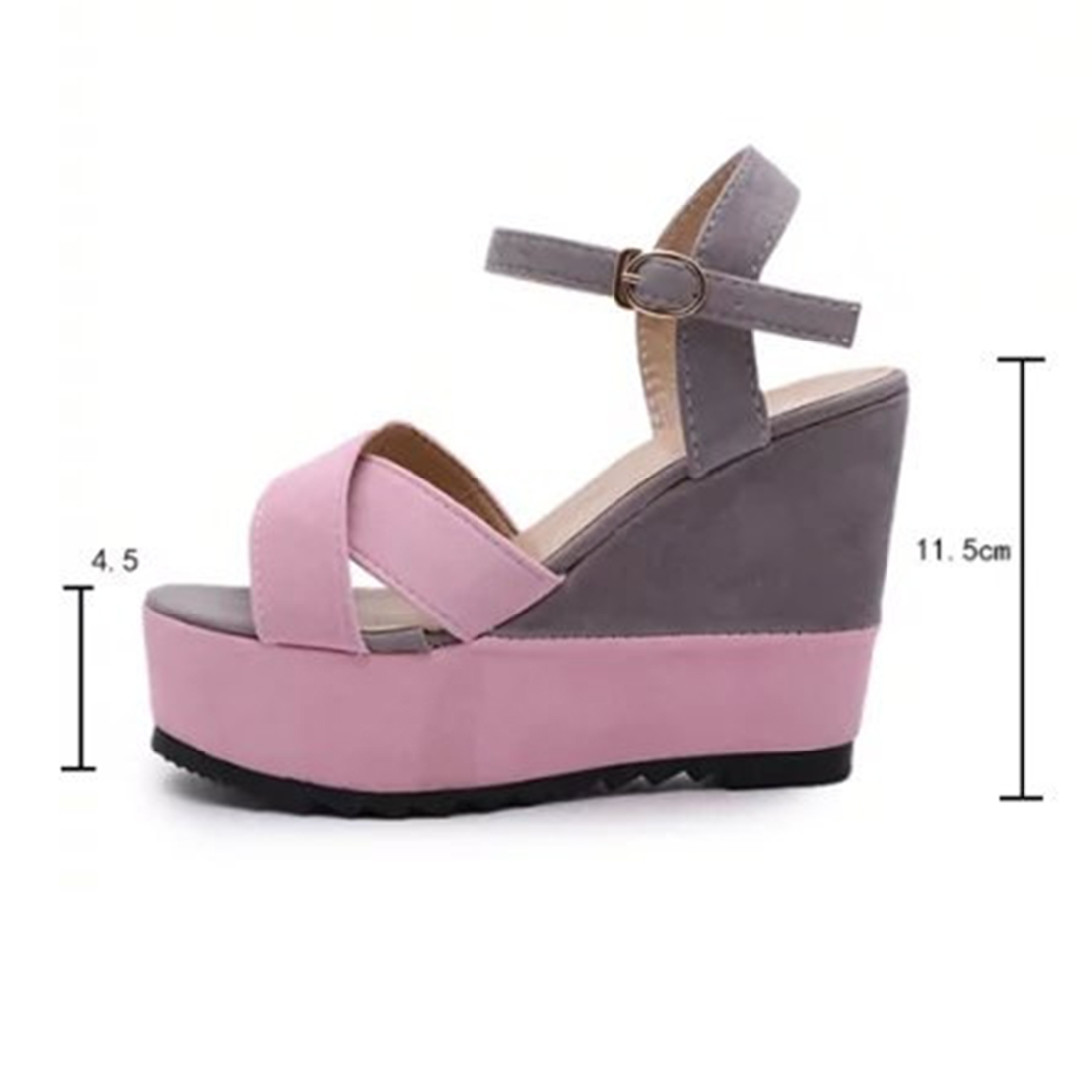 Sexy Open toe Patch Color Wedges Gladiator Sandals Women High Heels Platform Sandals Summer Women's platform wedge Shoes Woman phyanic 2017 gladiator sandals gold silver shoes woman summer platform wedges glitters creepers casual women shoes phy3323