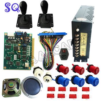 60 in 1 Classical JAMMA Arcade Game DIY kit with power supply,speaker,arcade joystick,American push button,jamma wire Free ship