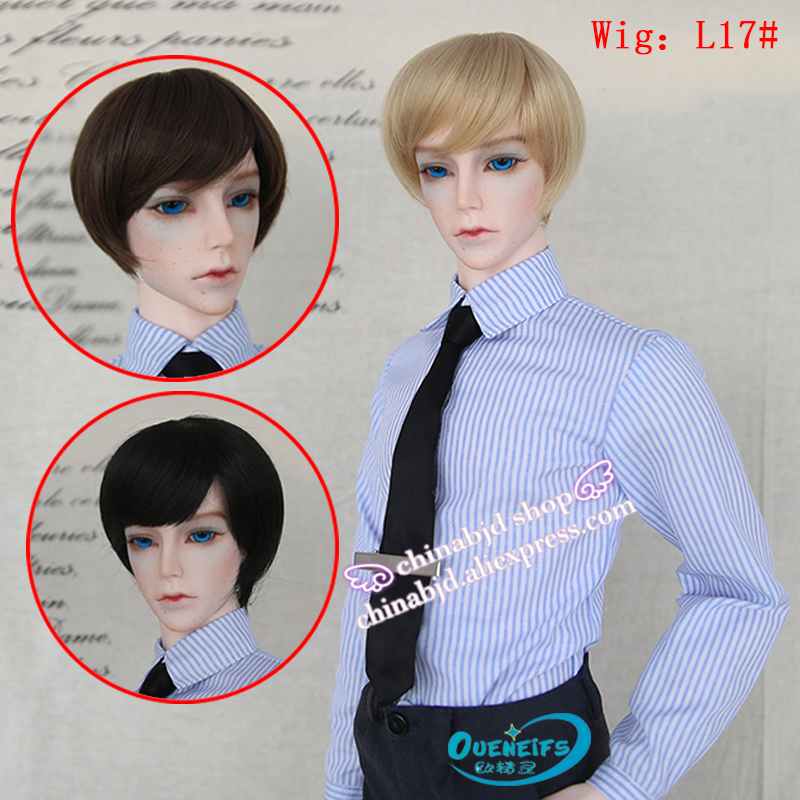 OUENEIFS free shipping wig 9-10 inch 1/3 high-temperature wig boy short hair doll Wigs with bangs fashion type stylish hair medusa hair products free shipping synthetic pastel mono wigs for women modern short straight blonde bob wig with bangs sw0017