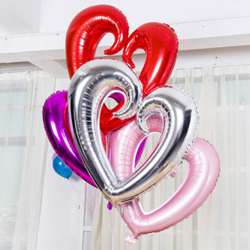 Big Hollow Heart Shape Foil Balloons Wedding Decoration Helium Balloon Valentine's Day Gold Heart Party Supplies Balloons