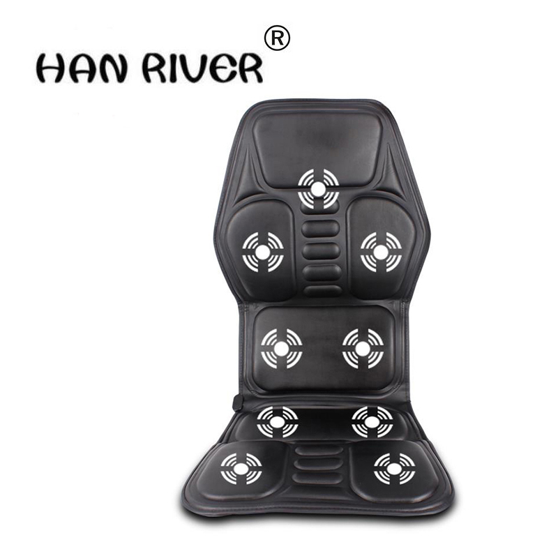 2018 new Car Home Office Full Body Massage Cushion Heat Vibrate Mattress Back Neck Massage Chair