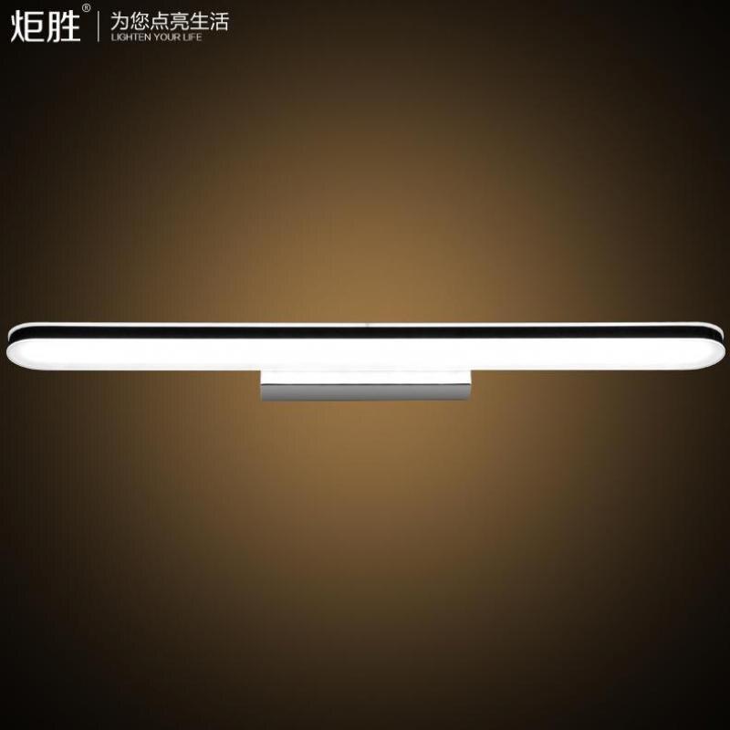 24 Вт/100 см длинные современные модные Акрил Нержавеющаясталь светодиодный настенный светильник для Ванная комната туалетное зеркало со св