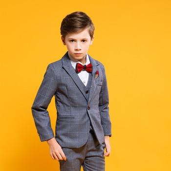 885ea321e5817 Çocuk Takım Elbise Blazer Erkek Takımları Için Uygun resmi kıyafet Enfant  Garcon Mariage Balo Takım Elbise Kostüm H539