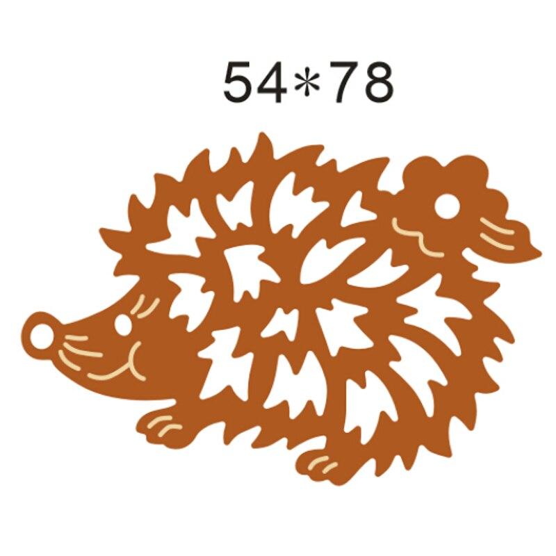 Hedgehog Die Cuts Metal Cutting Dies In Scrapbooking Embossing Folder DIY Funny Party Decor Scrapbooking Template