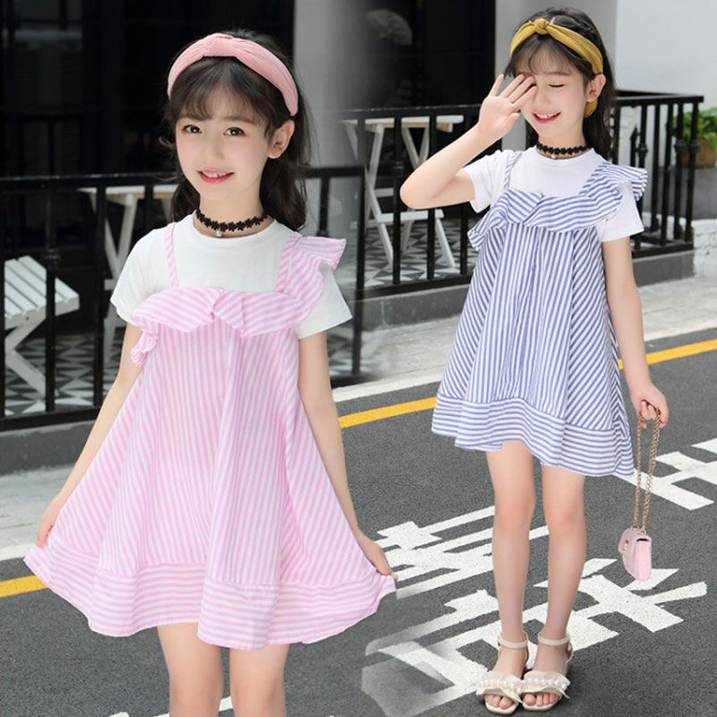 Summer Girls Dresses 2018 New 4 5 6 7 8 9 10 11 12 13 14 Year Children Clothing Kids Dresses for Girls Party School Clothes girls summer full printed black dresses children outfit clothing for 6 7 8 9 10 11 12 13 years teenager girl dress