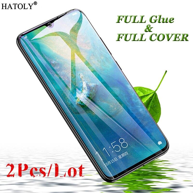 2 Pcs Huawei Companheiro 20X Vidro Filme Vidro Temperado para Huawei Companheiro 20X 9 H Completo Cola Tela Cobertura Completa protetor para Huawei Companheiro 20X