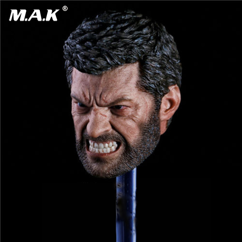 Pre-sale 1:6 Scale Angry Logan Head Sculpt Wolverine Hugh Jackman for 12 inches Action Figure 1 6 scale male head wolverine head sculpt old hugh jackman logan x men for 12 action figure body