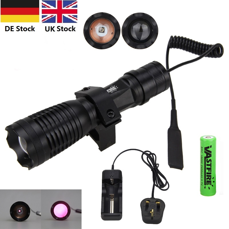 Portable 7W Zoomable Torch Light Focus 850nm LED Infrared IR Flashlight For Night Vision Camera And Camcorder