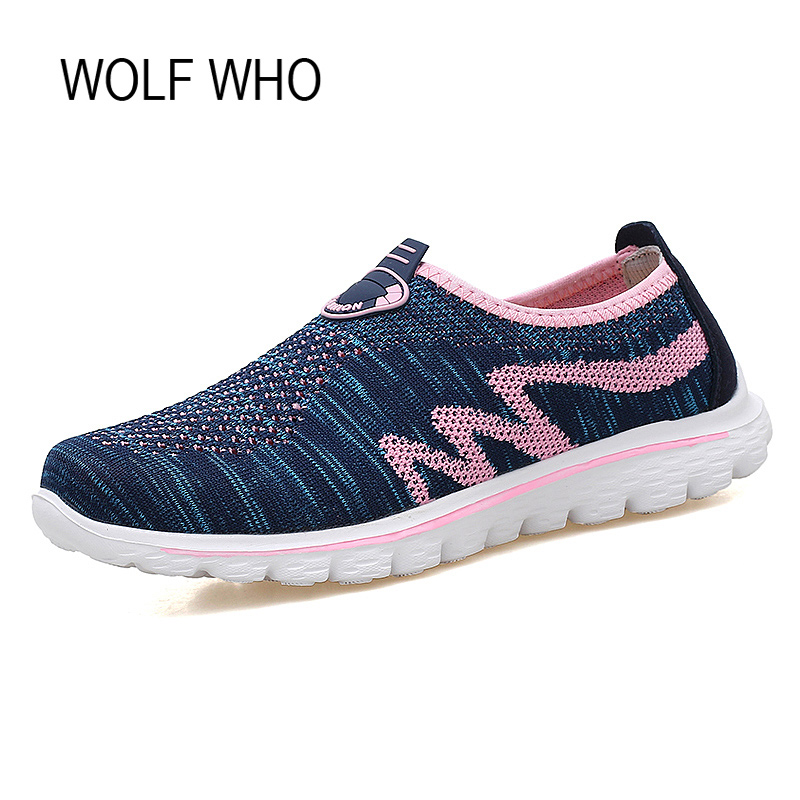 Wolf Who 2017 Breathable Women Shoes Female Loafers Slipony Ladies Tenis Feminino Casual Chaussure Femme Sapatos Femininos x404 free shipping candy color women garden shoes breathable women beach shoes hsa21