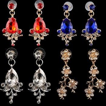 Wedding Crown Queen Bridal Tiara Bridal With Earring Luxury Rhinestone Headband Diadem Bride Hair Jewelry Ornaments 4