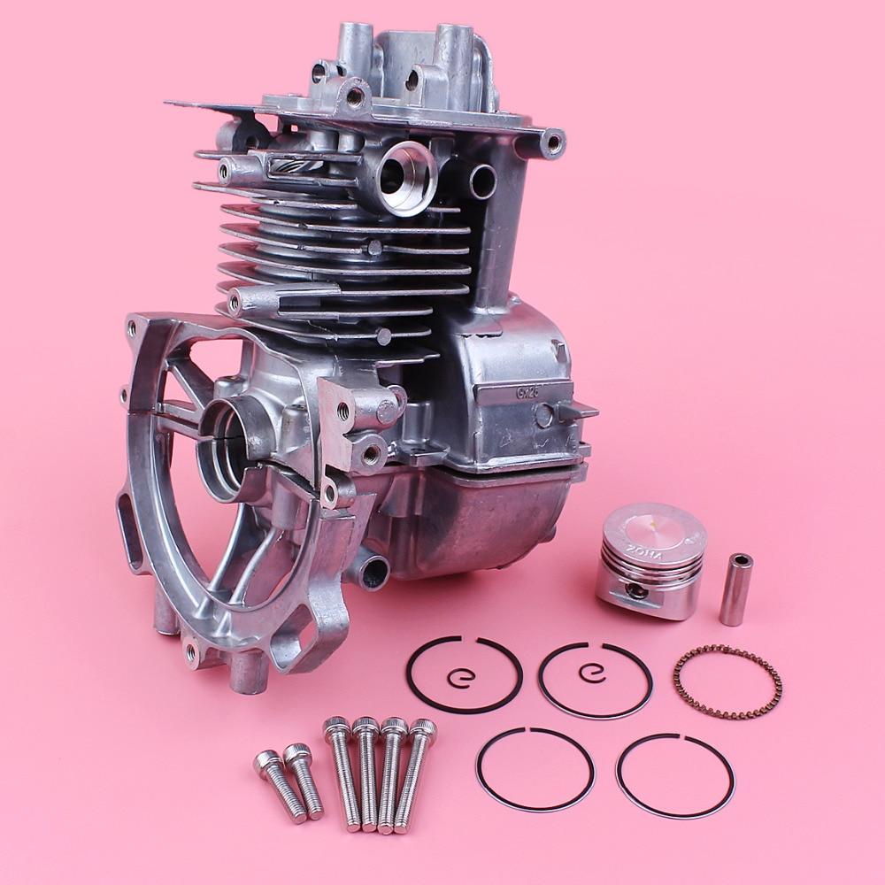 Brush GX25 Trimmer Honda For Kit HHT25S Crankcase Cutter Piston GX25N Engine Small Motor Bolt Mount 35mm Mower Cylinder