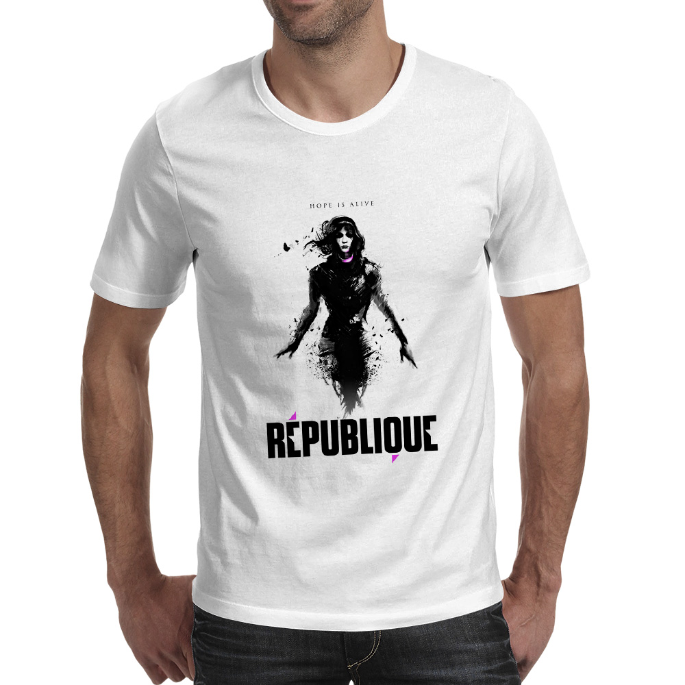 Republique Hope Is Alive T Shirt Video Game Fashion Print Punk T-shirt Skate Funny Casual Unisex Tee