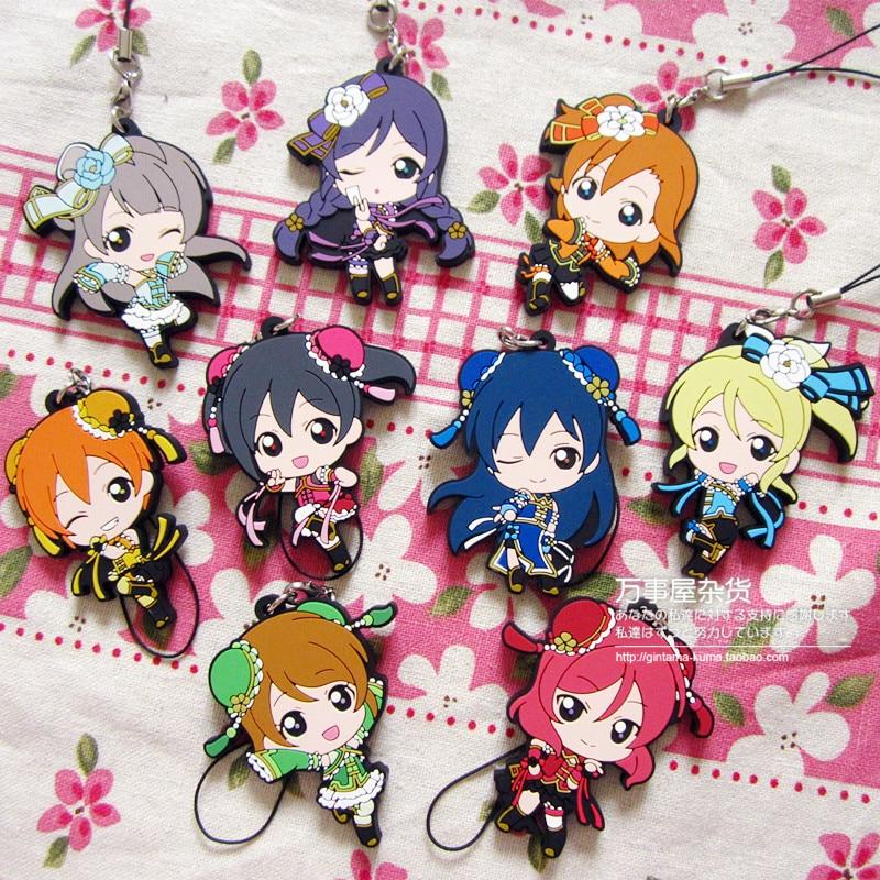 Kotori Nico Eli Rin Umi Maki Anime Love Live! Lovelive! Chinese Version Japanese Rubber Keychain шорты мужские lasting 6262 nico