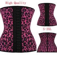 Plus Size Latex Waist Training Steel Boned Corset Underbust Harley Quinn Sport Waist Cincher Slim Women