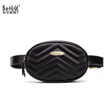BRIGGS Brand Women Wavy Lines Waist Belt Bag Fashion Circular Chest Bags Small Shoulder Travel Pack 2018 New