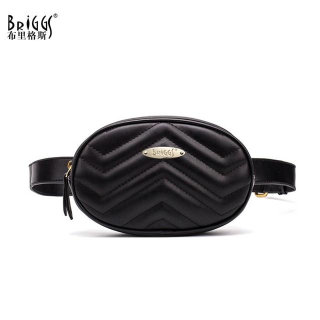 BRIGGS Brand Women Wavy Lines Waist Belt Bag Fashion Circular Chest Bags Small Women Shoulder Bag Travel Bag Waist Pack 2018 New
