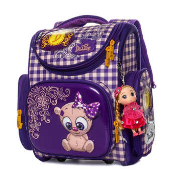 Delune 2019 New Primary School Bags Cartoon Orthopedic backpack for Girls Bear Cat Printing Children Mochila Infantil escolar1-3 - DISCOUNT ITEM  49% OFF All Category