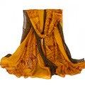 Grosso Plus Size Cervos Knit Scarf Com Lado Marrom Mulheres Novo Outono Inverno Cachecol Xales e Cachecóis 180*110 cm