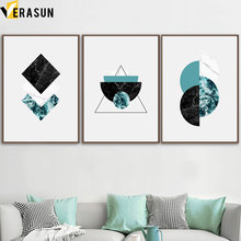 Abstract Geometric Marble Scandinavian Wall Art Canvas Painting Nordic Posters And Prints Pictures For Living Room Decor