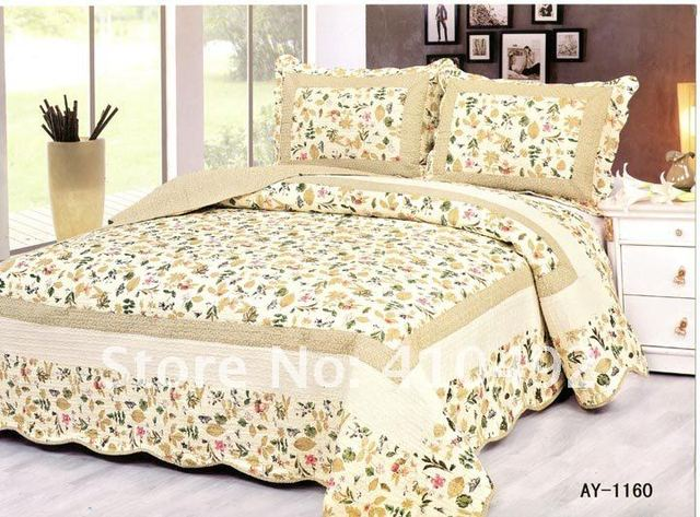 1160# yellow leaves/4 pcs bedding sets/sheet/bedsheet/Exclusive design/Manufacturers selling/lowest/patchwork