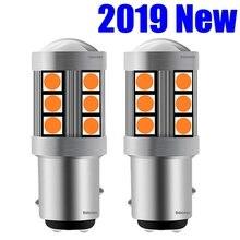 2 шт. мини 1157 P21/5 Вт BAY15D высокий яркий 3030 светодиодный автомобильный тормозной фонарь DRL Дневной ходовой светильник лампа сигнала поворота Янтарный красный белый