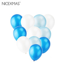 30pcs 12-Inch Pearl Latex Balloons For Wedding Birthday Party 2.8g Balloons Blue Baby Shower Party Decoration(China)