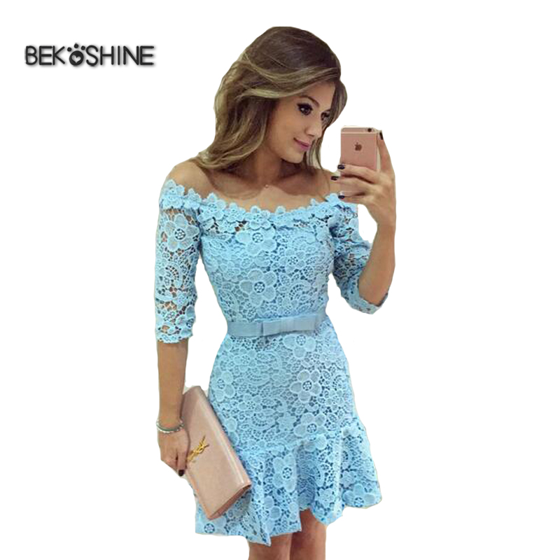 Women Fashion Autumn Dress 2017 Newest Vestido De Festa Evening Party Dresses Sexy Casual Lace Dress