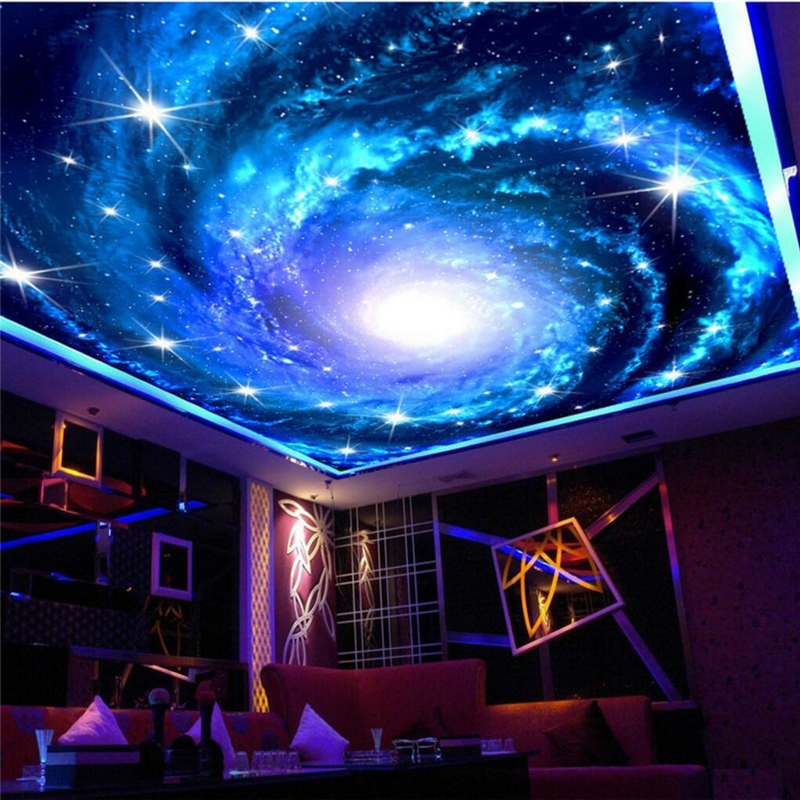 3d Mirror Wallpaper Beibehang Galaxy Large Star Sky Photo Wall Paper For Walls