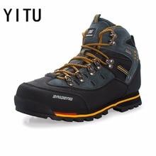 YITU дышащая уличная походная обувь Кемпинг Альпинизм походные ботинки мужские непромокаемые спортивные рыболовные Ботинки трекинговые кроссовки