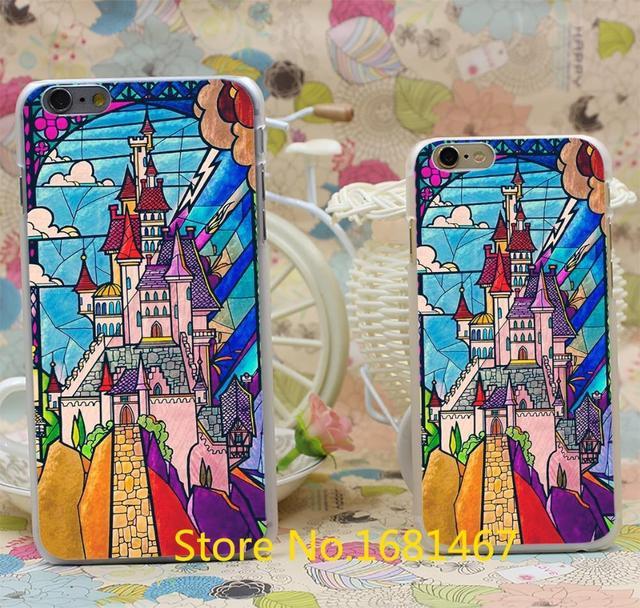 Beauté et la bête château Style Dur Transparent Pour iPhone 7 7 Plus 6 6 s 6g 6 + + 6 plus Effacer Cover Nouvelle arrivée
