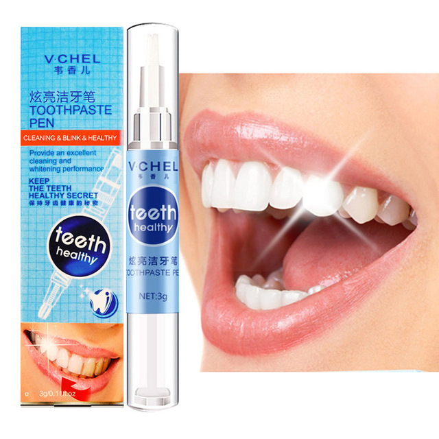 3g Teeth Whitening Pen Remove Stains Oral Care Tooth Cleaning Whitener Gel for Men Women Powerful Teeth Whitening Toothpaste Pen