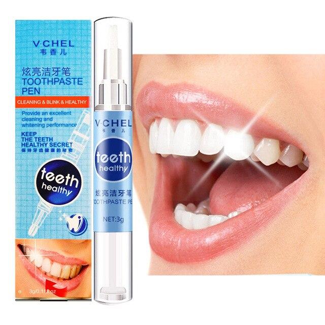 3g lápiz blanqueador de dientes eliminar manchas cuidado bucal Gel blanqueador de dientes para hombres mujeres potente pasta de dientes blanqueadora pluma