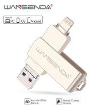WANSENDA 금속 USB 플래시 드라이브 128 기가 바이트 OTG 펜 드라이브 32 기가 바이트 64 기가 바이트 USB 3.0 플래시 디스크 아이폰 12 프로/12/11/XR USB 메모리 스틱