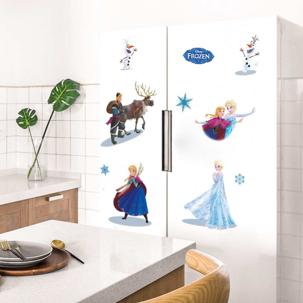 2018 New Princess Elsa Wall Stickers For Girls Room