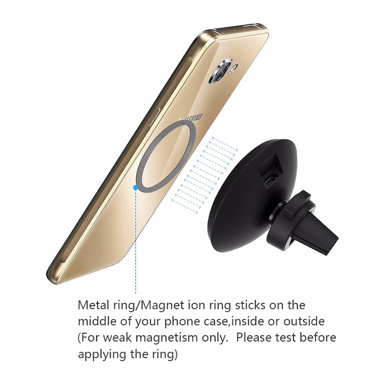 360 Degree Rotation QI Standard Phone Car Magnetic Wireless Charger Air Vent Holder For Samsung Galaxy S8 S8 Plus S7 Edge S7 (10)