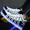 ПРИВЕЛО Обувь мужчин Загорается световой досуг Повседневная Обувь мужской glow теннис светодиодные иордания обувь мужской зашнуровать плоские с Горячей Моды унисекс