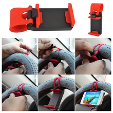 Kebidumei Flexible Steering-Wheel Mount Car Phone Holder Gadget Accessories Interior Support Iphone Samsung For safety