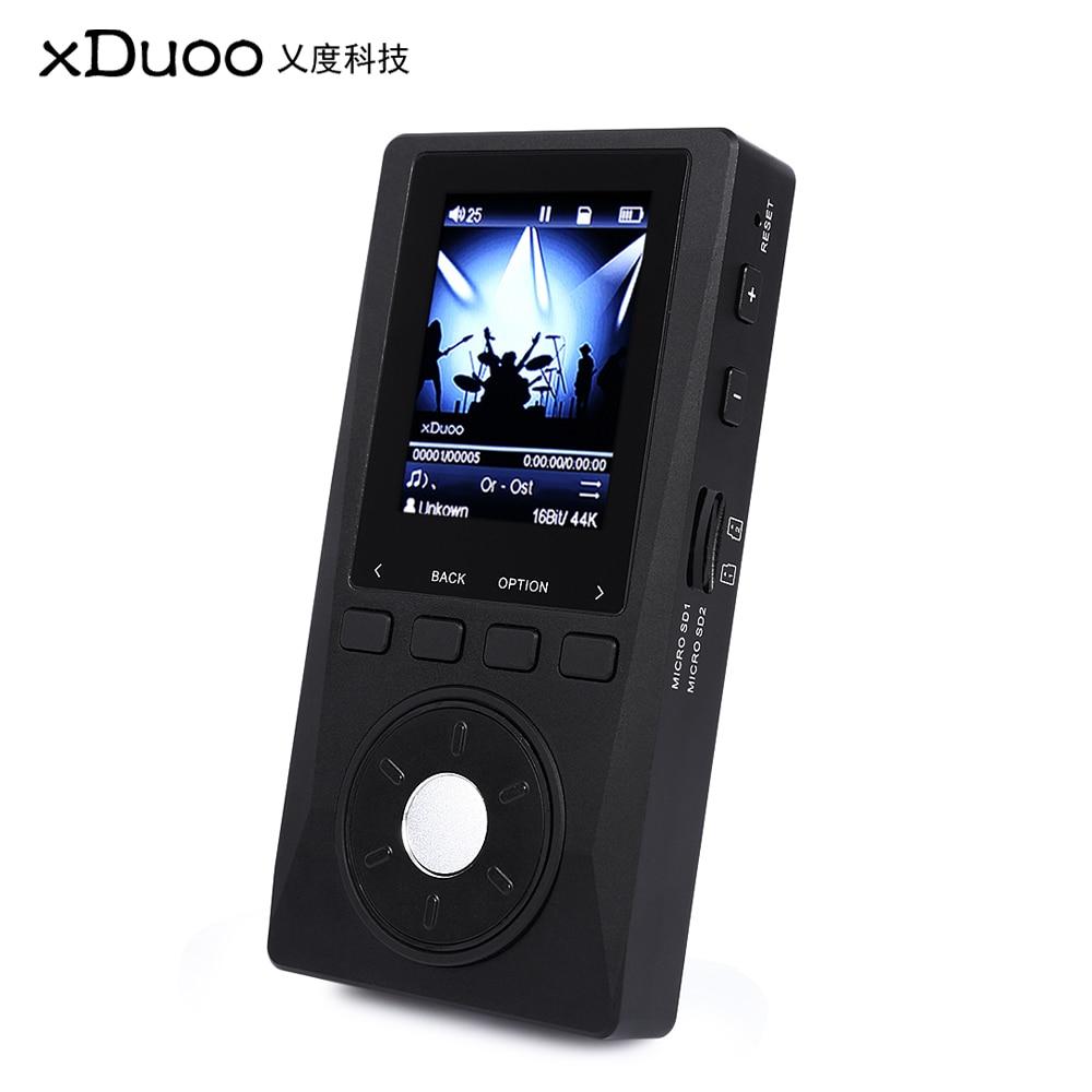 XDUOO X10 Portable MP3 lecteur de musique haute résolution sans perte avec affichage LCD Flac lecteur APE Support carte TF