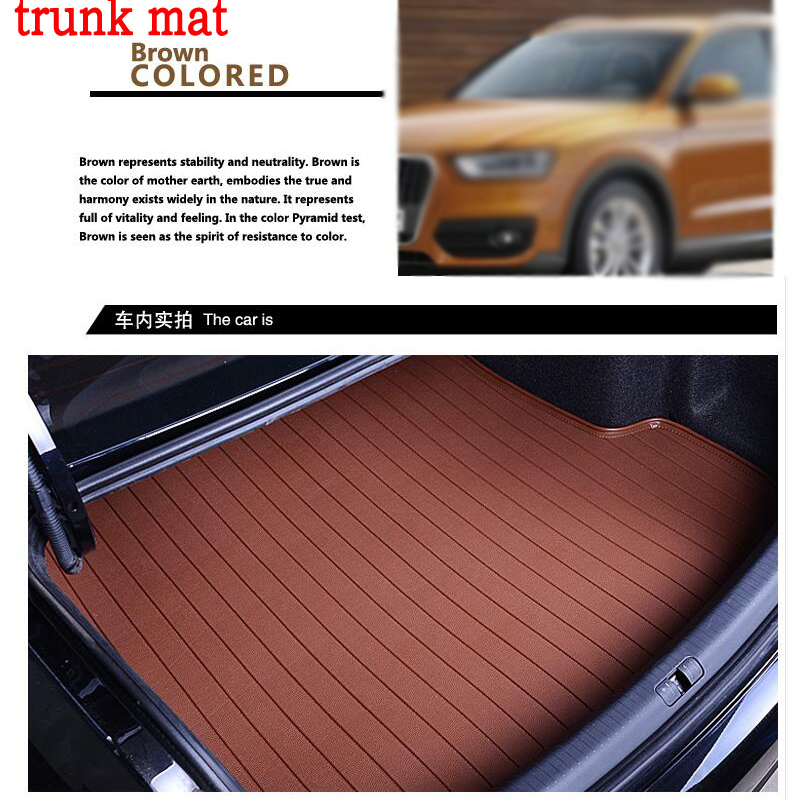GOOD QUALITY fit car trunk mat for Porsche Cayenne SUV 911 Cayman Macan 3D car styling heavy duty tray carpet cargo liner custom fit car trunk mat for cadillac ats cts xts srx sls escalade 3d car styling all weather tray carpet cargo liner waterproof