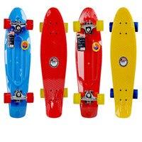 Double seesaw multi color optional skateboard junior juvenile professional version of fish skateboard 27 inch four wheel durable