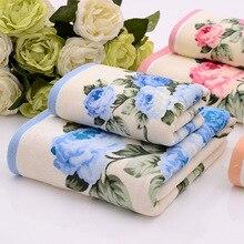 35*75/70*135 cm Blumenmuster Baumwolle Badetücher für Erwachsene, Hohe Qualität Strand Terry Badetücher Badezimmer, Serviette de Bain