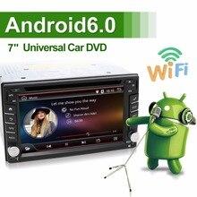 Универсальный 2 DIN Android 6.0 dvd-плеер автомобиля GPS + WiFi + Bluetooth + радио + quad 4 ядра процессора + DDR3 + емкостный сенсорный экран + 3 г + ПК автомобиля + аудио
