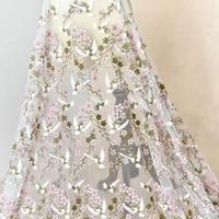 High grade bird embroidery 3D lace fabric wedding dress costumes handmade diy fabric clothing decorative fabric