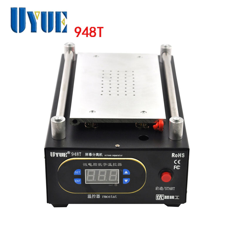 UYUE 220V LCD Separator Machine Built-in Vacuum Pump Mobile phone LCD Screen Separator Machine + Cutting Wire + Separator Handle free shipping screen repair machine kit ly 946d lcd separator for 5 inch mobile screen 12 in 1 separate machine