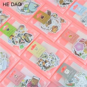 1 حقيبة لطيف الكرتون الكورية نمط الزخرفية ملصقات ملصقات بمادة لاصقة سكرابوكينغ DIY الديكور مذكرات ملصقات