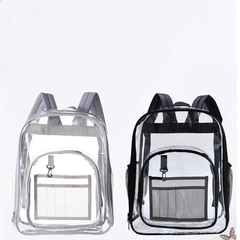 OEM 2019 Women Clear Transparent PVC <font><b>Backpack</b></