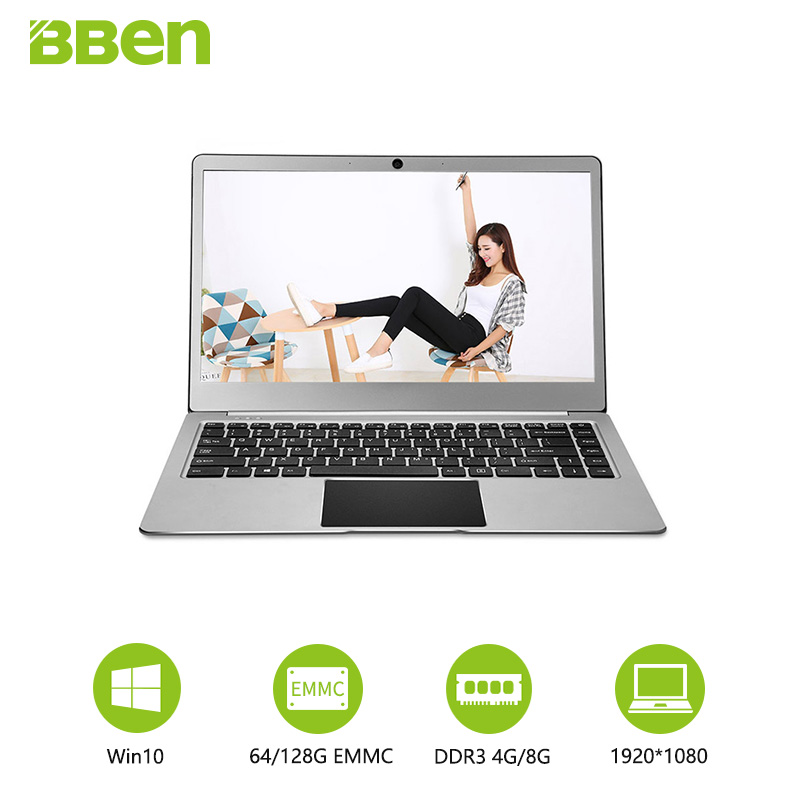 Laptops Steel Gray Bben New 14.1inch Laptop Computers 1920x1080 Fhd Type-c Cpu Intel Celeron N3450 Pro Windows10 System 4gb/64gb