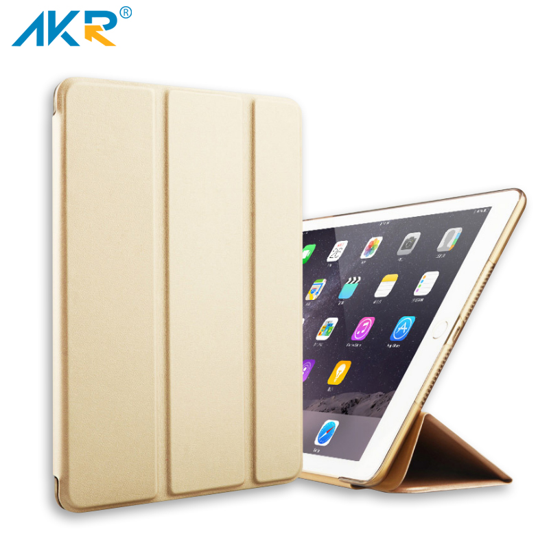 Slim PU Leather Case for New iPad 2017 9.7 Stand Cover Magnet AKR New Arrival Free Shipping Light Weight Scratch-Resistant