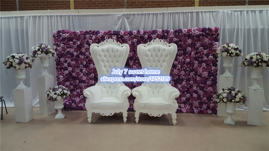 Artificial Silk Purple Peony Flower Wall Wedding